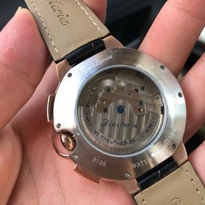 Image 3 - توربيون رجالي ساعة ماركة فاخرة حزام ساعة الرجال التلقائي الميكانيكية ساعة اليد الهيكل العظمي الرياضة الذكور الساعات relogio CASENO