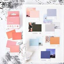 Journamm 45 teile/schachtel Farbe Karte Aufkleber Inspiration Farbe Karte Serie Kawaii Nette Aufkleber Plan Individuelle Aufkleber Tagebuch Schreibwaren