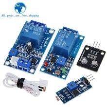 Módulo de controle automático do brilho do sensor 10a do módulo do relé do fotoresistor do interruptor de controle da luz de tzt 5v 12v para arduino
