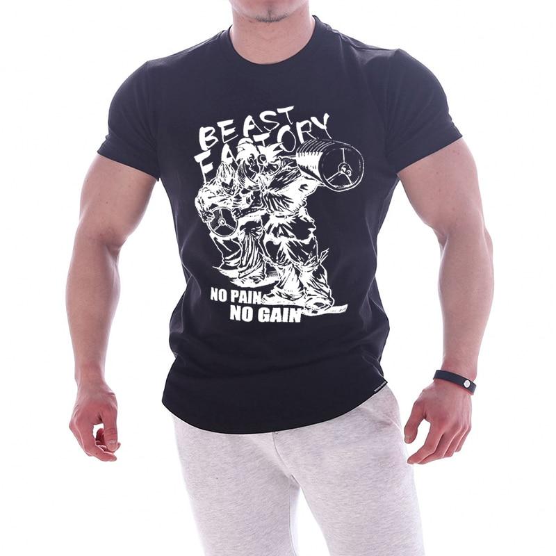 Фитнес Костюмы новый бренд Костюмы тренажерные залы Tight футболка мужские Фитнес футболка для мужчин Gyms футболка для мужчин Фитнес летние то...