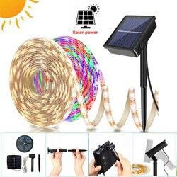 Гибкая светодиодная ленсветильник на солнечной батарее для освещения газона, улицы, поверхностного монтажа, 2835