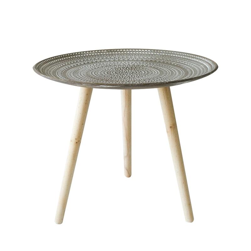 Table basse Simple ronde Pots de fleurs littéraire créative porte boutique B & B rétro dans le Style nordique petite Table d'appoint coin WY115040 - 5