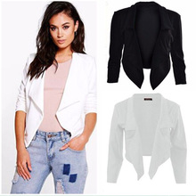 ZOGAA 2019 New Womens Elegant Lace Up Split Blazer Women Autumn Single Breasted White Office Ladies Suits Thin Coat Casual