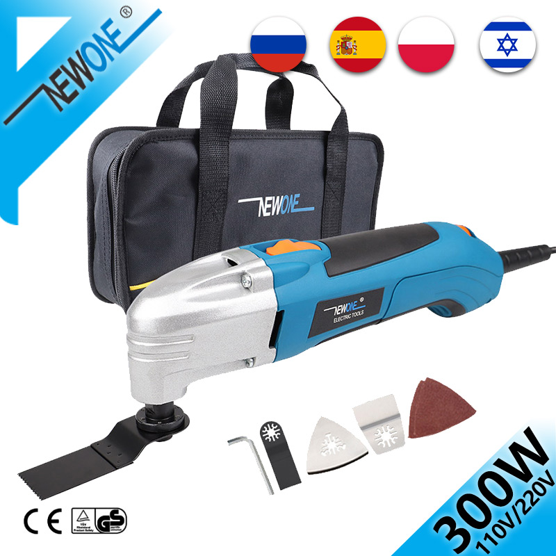NEWONE 300W Electric Multitool Trimmer Tool with Oscillating Saw Blades 230V Variable Speed Renovator Power Tool Saw Accessory