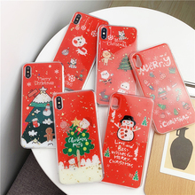 ottwn Christmas Tree Print Soft TPU Matte Phone Cases For iPhone XS MAX XR X  7 8 6 6S Plus 5 5S SE Case Back Cover Silicone