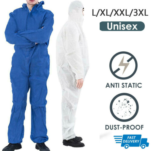 Reusable Coverall Protective Clothing Hazmat Suit Protection Disposable Anti Bacterial Work Chemical Medical Isolation Suit