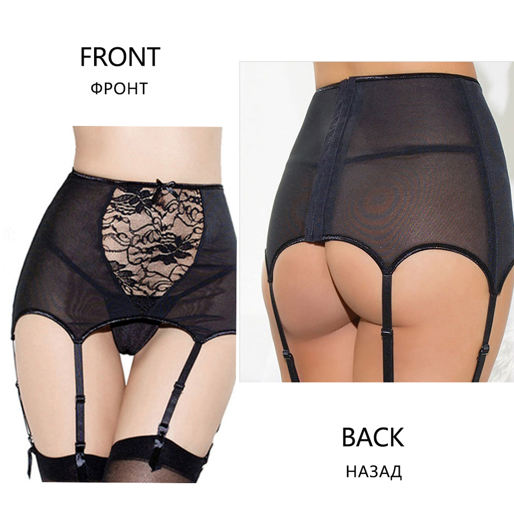 Sexy Women Lingerie High Waist Lace Stocking Belt Sexy Suspender Lingerie Bustier Vintage Goth XL XXL White Garter Plus Size