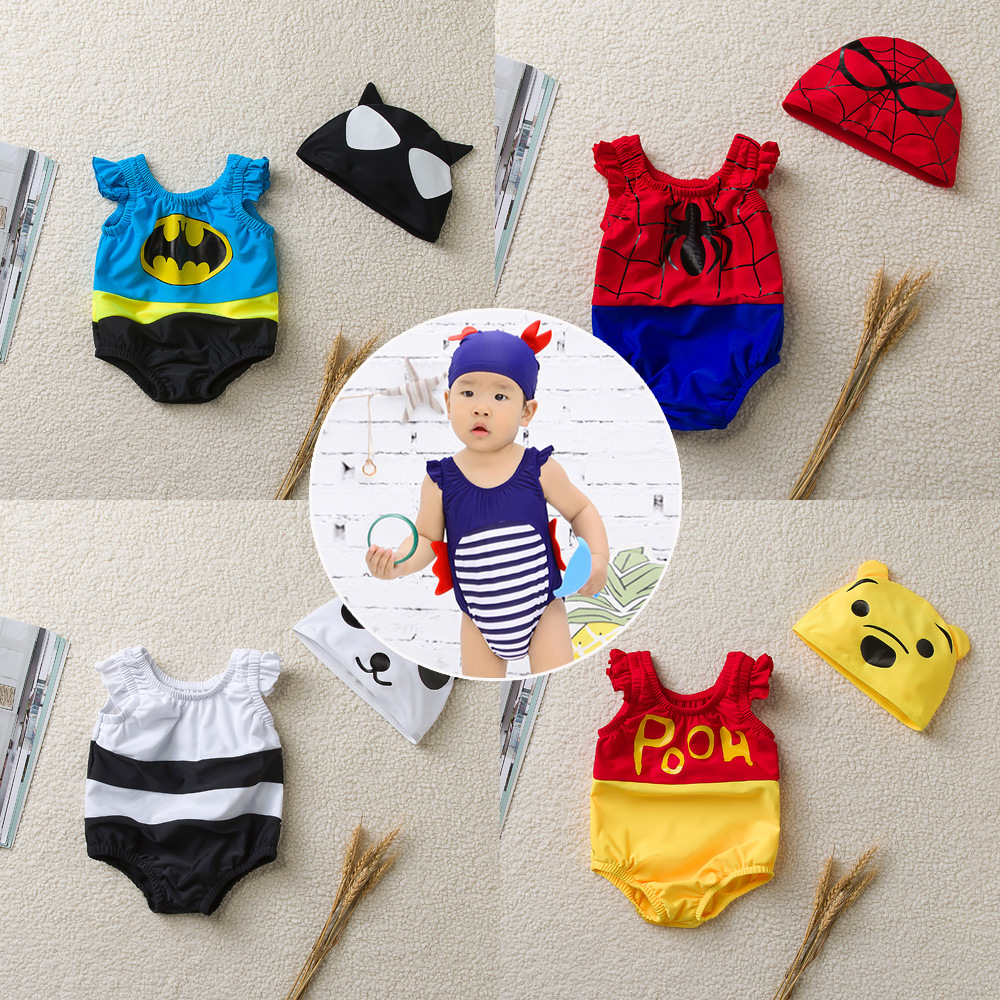 Cute Cartoon Infants KID'S Swimwear One-piece Triangular Bubble Hot Spring Men And Women Baby Infant Swimming Clothing