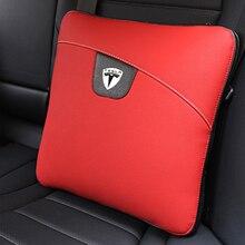 רכב סטיילינג חזרה מותניים כרית משענת גב תמיכת מושב טיפול שמיכת עבור טסלה דגם 3 דגם S דגם X אבזרים