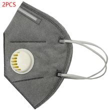 2 stücke Baumwolle PM 2,5 Anti Dunst Maske Atem Ventil Anti-staub Atemschutz Maske