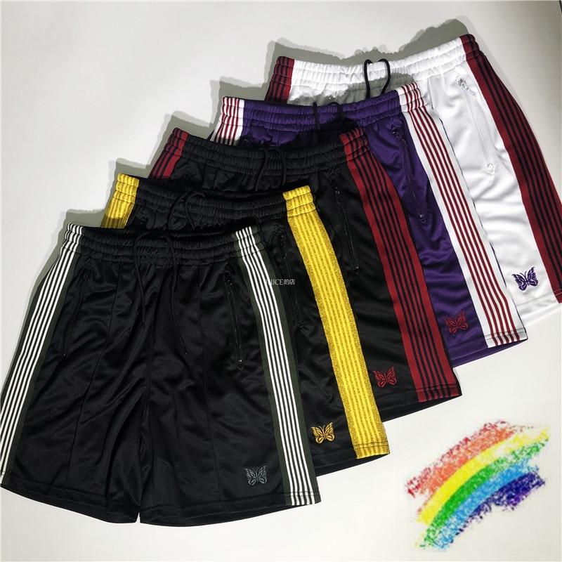 AWGE Needles X Beams Shorts Men Women 1:1 High Quality Mens Shorts Drawstring Needles Shorts
