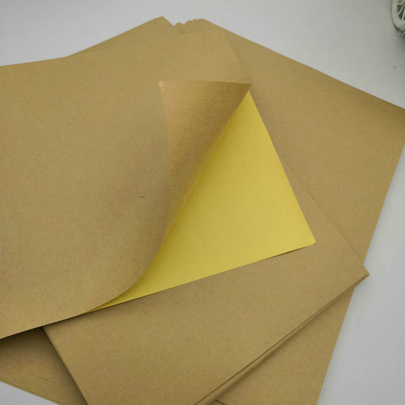 100 Sheets / Packet A4 Matte Kraft Paper For Self-adhesive Laser Inkjet Printer. Copier Office Color Label Carton Label