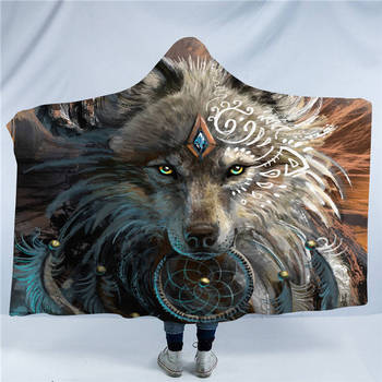 Wolf Warrior Hooded Blanket 9