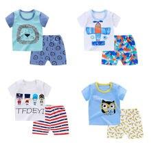 Комплекты детской одежды летняя одежда для маленьких мальчиков
