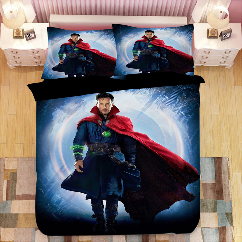 Dr. Strange Print 3D Bedding Set Duvet Covers Pillowcases One Piece Comforter Bedding Sets Bedclothes Bed Linen