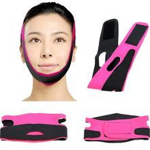 Face Slim v-line podnieś pas przeciwzmarszczkowy maska odchudzanie podbródek policzek bandaż cienki V linia twarzy pasek zespół twarzy przyrząd kosmetyczny tanie tanio MISS ROSE CN (pochodzenie) Nylon Brak elektryczne Pink+Black 630 X 100mm 24 8 X 3 94 Special Nylon Fleece + SPA Fabric