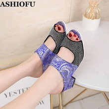 new fashion women shoes sandals luxury noble dress shoes party hot sale ankle high heel rhinestone cage vintage style gladiator ASHIOFU Hot Sale New Style Fashion Rhinestone Chunky Heel Sandals Patchwork Sexy Party Prom Shoes Evening Fashion Sandals Shoes