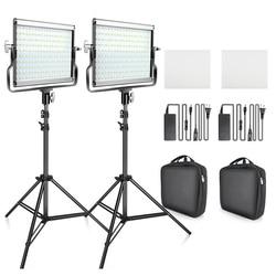 Светодиодная лампа для видеосъемки L4500, 2 в 1, двухцветная студийсветильник лампа 3200K-5600K со штативом для Youtube