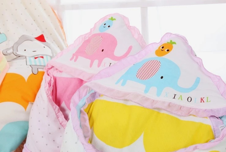 Detachable BABY'S BLANKET Baby Blanket Pure Cotton Newborns Spring And Autumn Cartoon Thick Printed Dotted Party Is Baby's Bag I