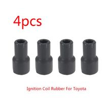 4pcs 90919-11009 Ignition Coil Rubber Boots Cover Plug Cap for T~oyota Yaris