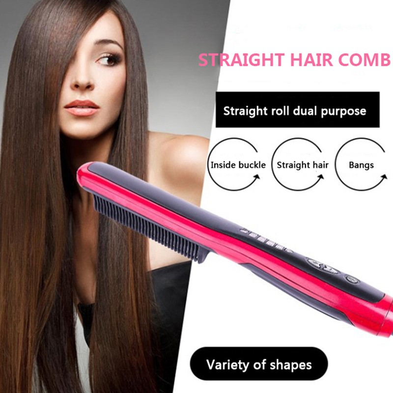 Straight Hair Comb Straightener Straight Hair Lazy Artifact With Internal Buckle Hair Brush Comb Iron Straight Hair Comb