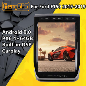 For Ford Raptor F150 2015-2019 Car multimedia player Tesla screen Android PX6 Radio stereo No DVD GPS Navigation Head unit Audio(China)