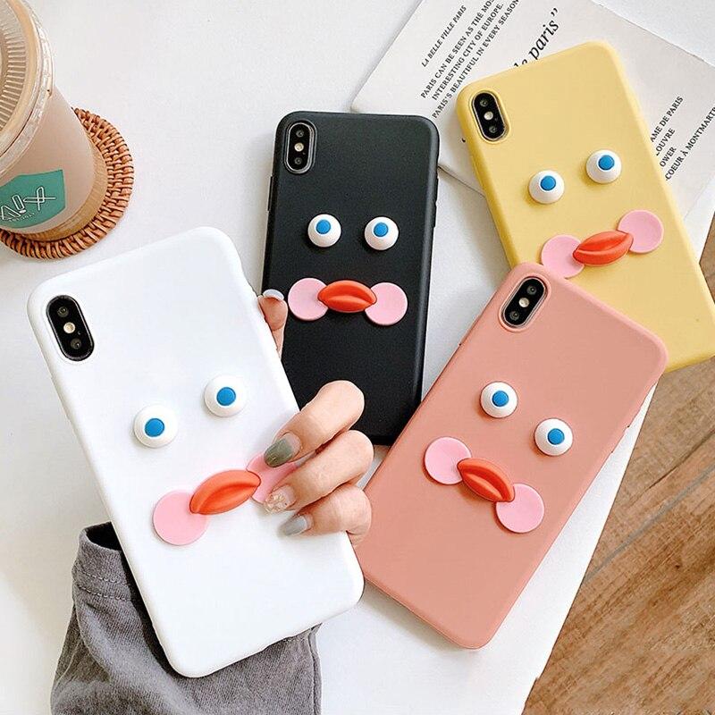 3D Cute Yellow Brunch Duck Case For LG G5 SE G6 Plus G7 Fit One G8 Thinq Q6A Q7 Q8 V10 V20 V30 V40 V50 Soft TPU Cover