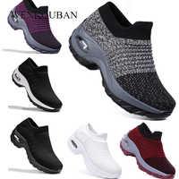 2020 Spring Women Platform Shoes Woman Ladies Flats Casual Black Ballet Loafers Women Slip on Sock Shoes Mocasines Mujer
