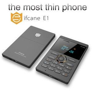 Image 5 - Ultra Dünne Kinder Handy ifcane E1 Handy Mini Karte Student Tasche Niedrige Strahlung Handy