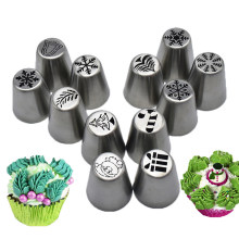 12 stks/set Rvs Cake Nozzles Pastry Tip Icing Piping Nozzle Cake Decorating Tips Tool Fondant Zoetwaren Sugarcraft(China)