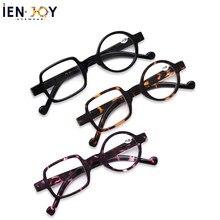 Ienjoy óculos de leitura assimétricos redondos & quadrados homens mulher presbiopia óculos de leitura hyperopia