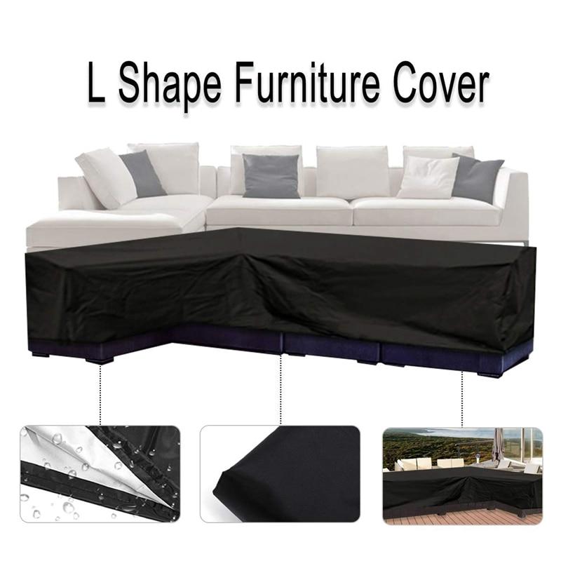 L forma capa, pátio sofá mobiliário sofá