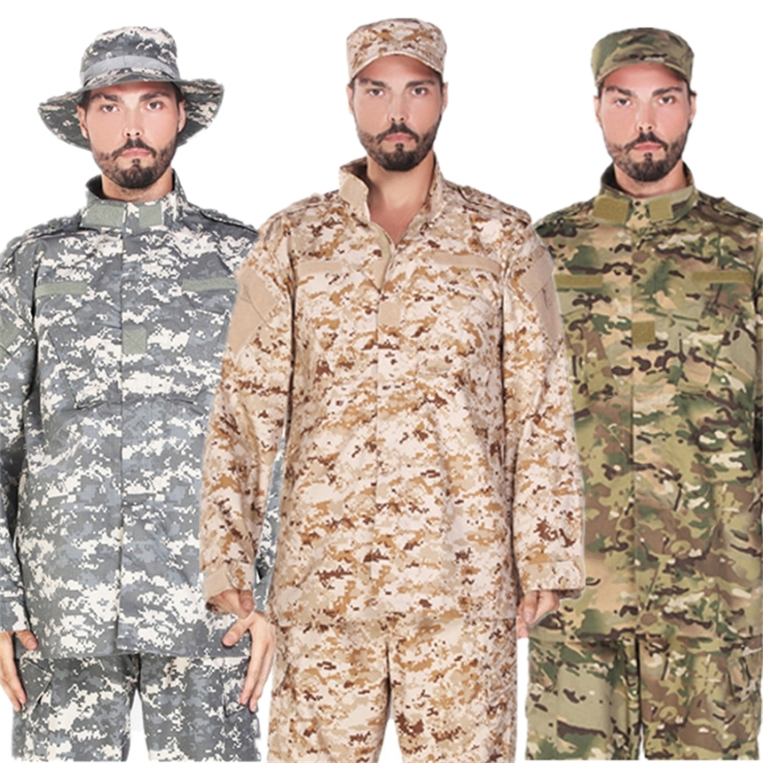 17Color Men Army Tactical Military Uniform Camouflage Combat Shirt Clothes Special Forces ACU Militar Uniforms For Man Coat Set