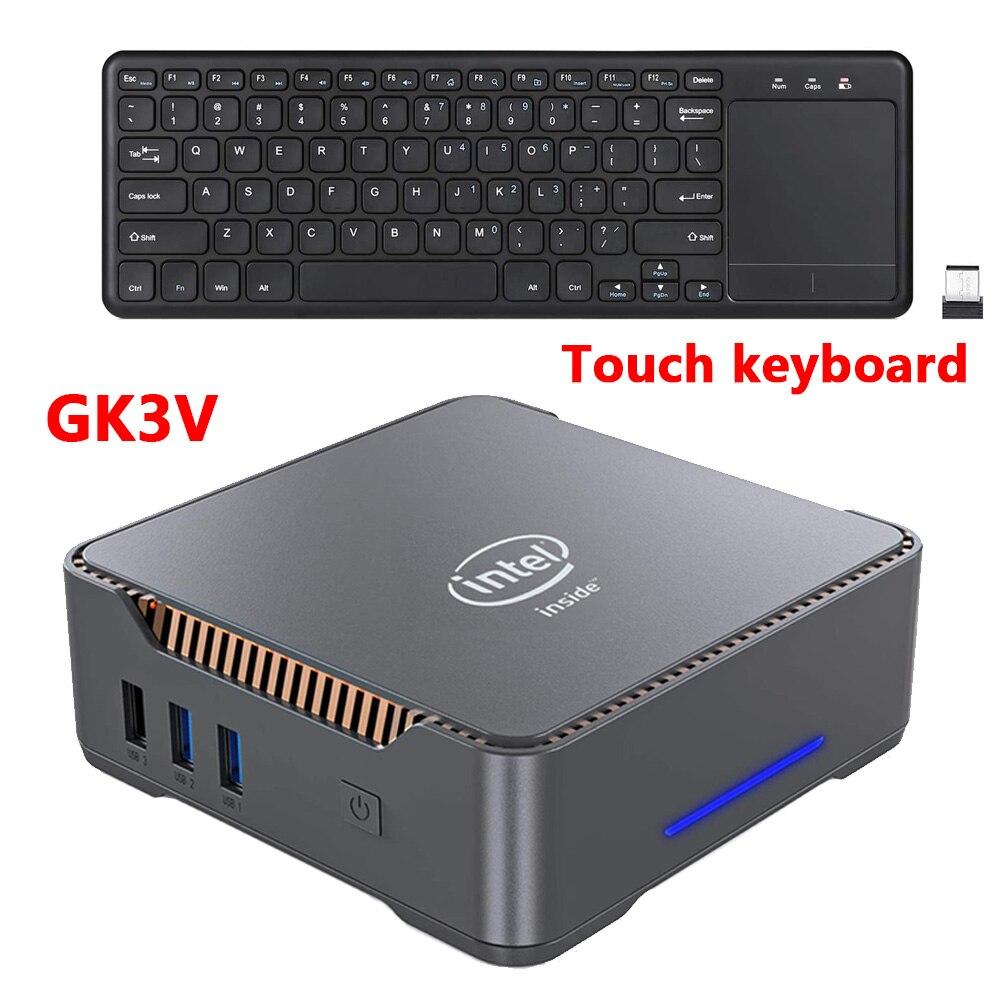 GK3V Windows 10 Pro Key Mini PC Intel Gemini Lake J4125 8GB DDR4 128GB 256GB 512GB SSD Gaming PC 2.4G5G WiFi 1000M Mini Computer 1