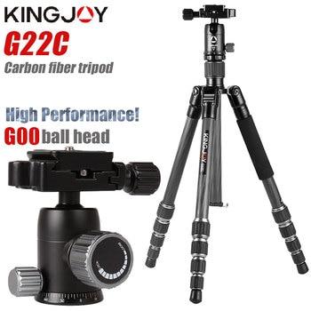 KINGJOY G22C Professional carbon fiber tripod for digital camera tripode Suitable travel Top quality stand 143cm max