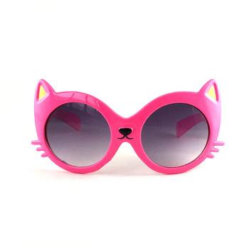 Kilig Cat Shape okulary przeciwsłoneczne dla dzieci Cartoon Cute Baby różowe okulary przeciwsłoneczne dla dzieci okulary UV400 okulary dla zwierząt dla dziewczynek chłopcy prezent tanie i dobre opinie Poliwęglan Motyl Akrylowe 56MM 50MM