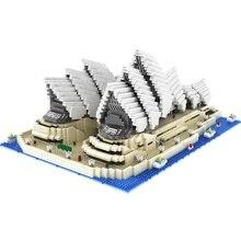 4131PCS Mini Diamond Blocks Famous City Architecture Sydney Opera House Model Building Blocks Bricks Educational Toys For Gifts