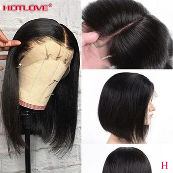Short Bob Wigs Lace Front Human Hair Wigs For Black Women Brazilian Remy Hair 150% Density Bob Straight Hair Lace Front Wigs