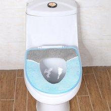 Красочные теплое сиденье для туалета крышка коврик густая моющаяся