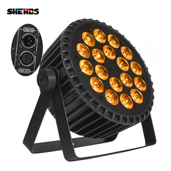 4PCS/LOT Aluminum Alloy LED Flat Par 18x18W Lighting DJ Par Cans Aluminum Alloy DMX 512 Light DMX Dj Wash Lighting Stage Light chauvet dj dmx an
