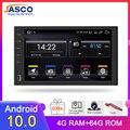 Автомобильный мультимедийный плеер, 9 дюймов, Android 10,0, ОЗУ 4 Гб, ПЗУ 64 ГБ, DVD, Gps-навигация, радио, видеоплеер, стерео, универсальный, 1 Din