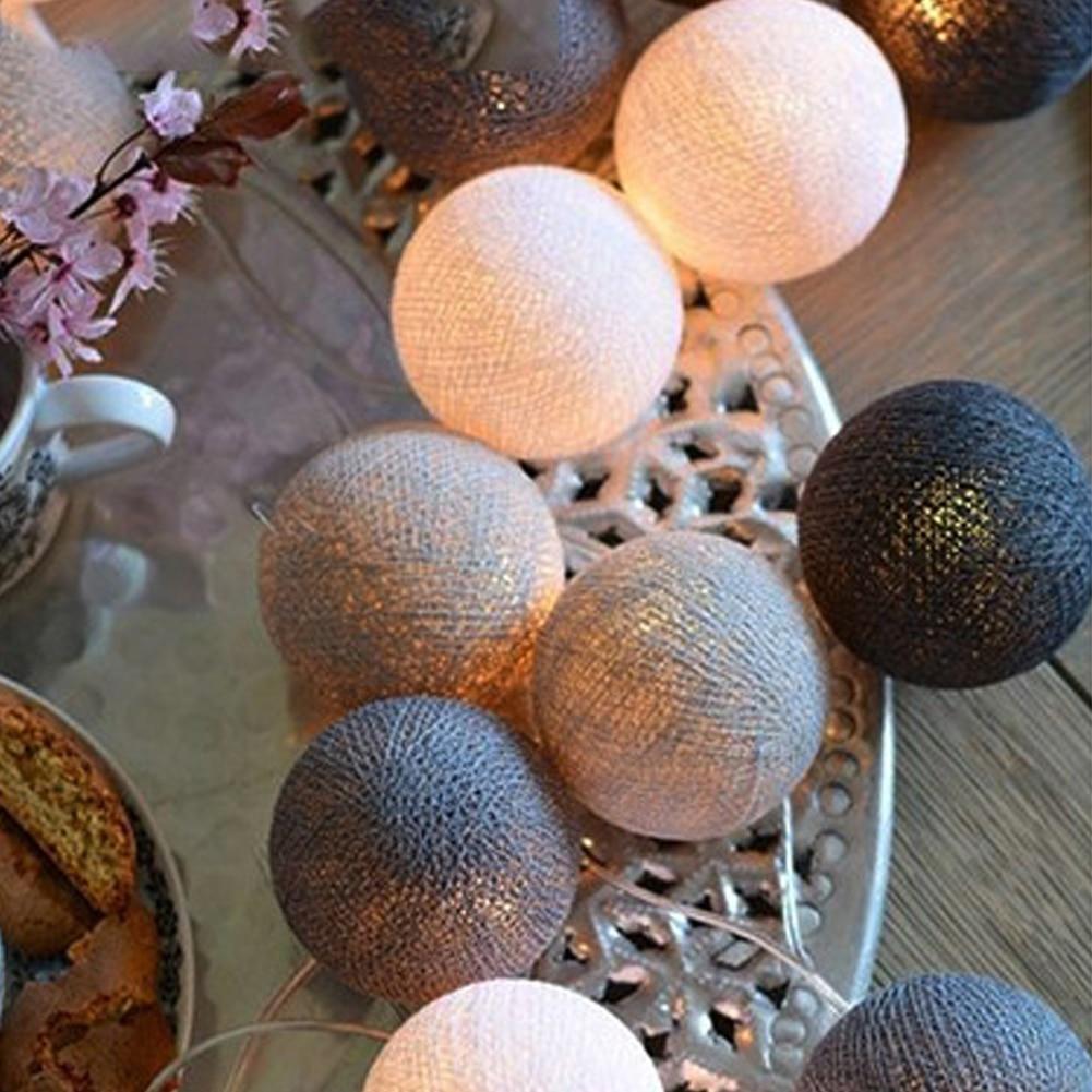 Party Supplies Durable Festival Fairy Light String Light DIY Cotton Ball Garland Christmas Decor LED Lamp Atmosphere Lamp
