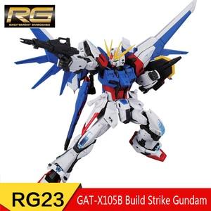 Image 3 - BANDAI RG 1/144 Collection STRIKE FREEDOM GUNDAM Gundam Astray JUSTICE GUNDAM Collection Action Toy Figures Christmas Gift