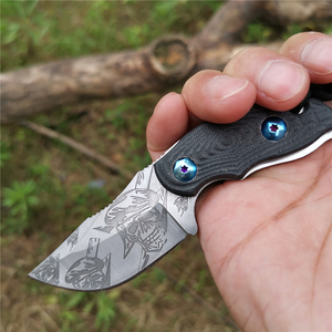Image 5 - Cuchillo con mango 57HRC G10 hoja recta forjada de alta dureza Bueno para caza Camping supervivencia al aire libre y llevar todos los días