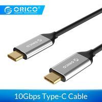 Кабель ORICO USB 3,1 type C-type c 10 Гбит/с, 5А, кабель для быстрой зарядки type-c для мобильных телефонов Macbook Matebook, ноутбуков
