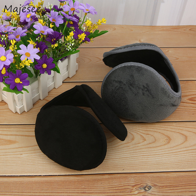 Earmuffs Women Classic Solid Simple Unisex Couples Womens Ear Warmer All-match Casual Soft Winter High Quality Fashion Females