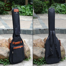 Thicken Guitar Case 8mm Electric Bass Bags 600D Waterproof Guitar Backpacks Cover With Shoulder Straps Black Handbags XA261M