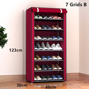 Image 3 - Multilayers נירוסטה נעל Rack הבית ארגונית עבור נעל מדף ארון אבק הוכחה ברזל מדפי עבור נעלי אחסון מדף מדף