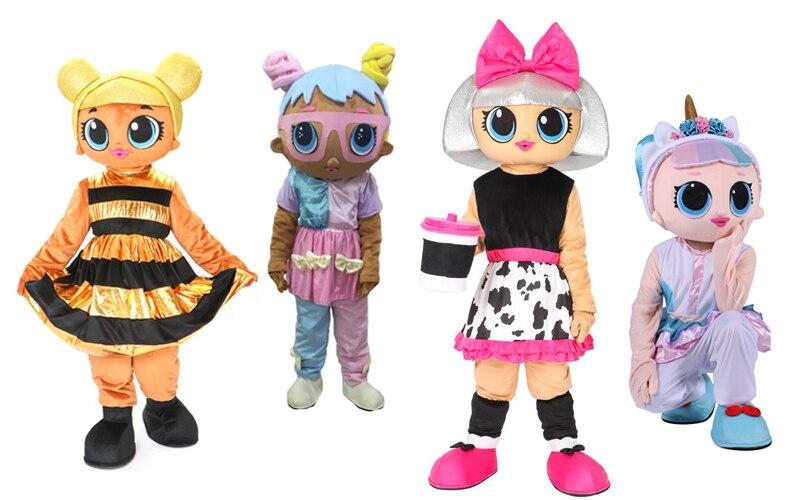 Vente chaude Diva lol poupée mascotte costume licorne Bonbon lol mascotte costume pour adulte taille Halloween fête événement