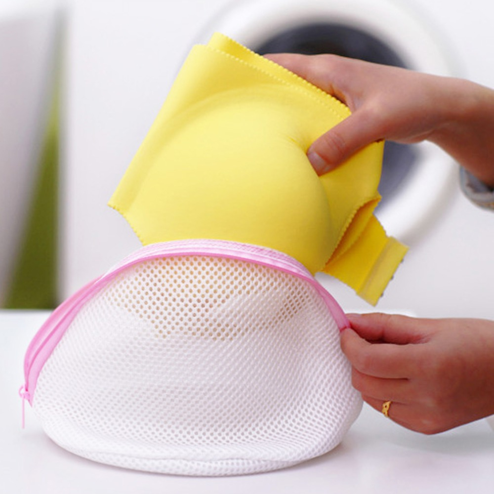 2018 1Pc Lingerie Bra Underwear Delicate Clothes Washing Laundry Mesh Net Bag Zippered